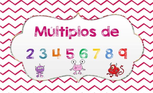 Tabuada da Multiplicação - Cartões com os múltiplos de 2 a 9
