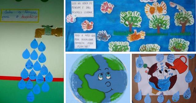 Nesta postagem confira várias ideias de murais para o Dia do Meio Ambiente.