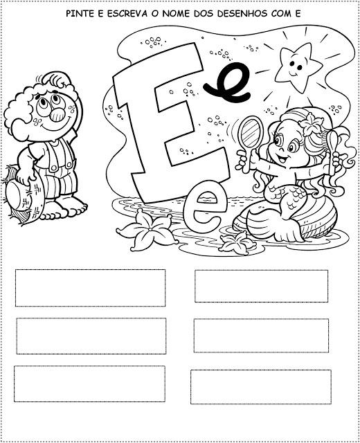 Confira atividades para escrever algumas palavras, essa atividade é muito divertida pois o aluno também vai pintar os personagens da Turma da Mônica.