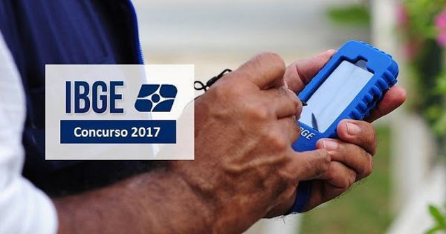 Concurso IBGE 2017 - Edital para 24.984 Vagas