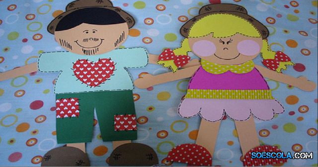 Nesta postagem trago para vocês Casal caipira para Festa Junina com Moldes prontos para imprimir.