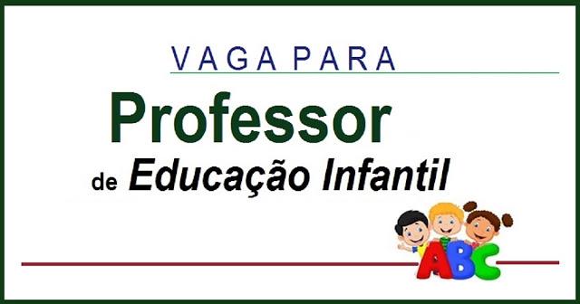 Instituição de Berçário e Educação Infantil contrata Professor