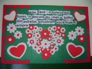 Mural Dia Das Mães Só Escola