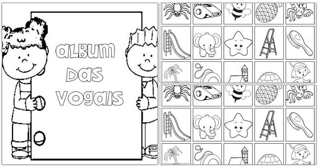 Álbum de Figurinhas das Vogais