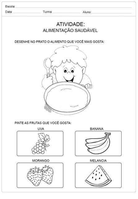 Atividades de Alimentação Saudável