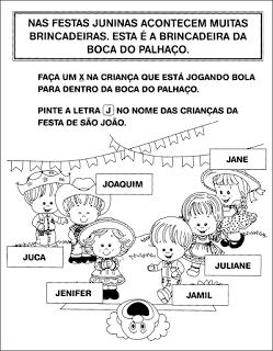 10 Atividades de Alfabetização sobre Festa Junina para Imprimir