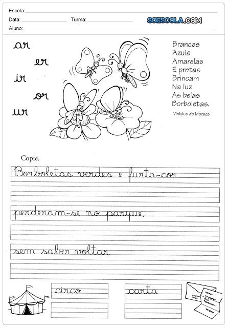 Atividades Ortografia - Sílabas Complexas AR ER IR OR UR