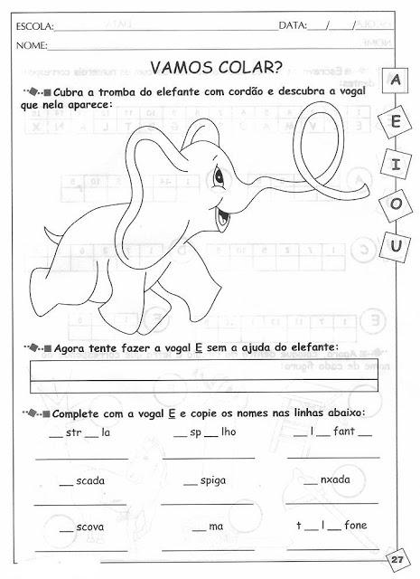 Atividades de Alfabetização Silábica para imprimir