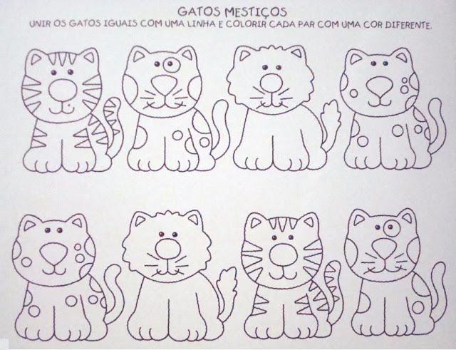 Seguem duas atividades para educação infantil, são atividades para ligar os animais iguais.