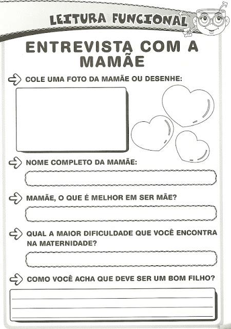 Atividades Dia das Mães - Entrevista com a Mamãe
