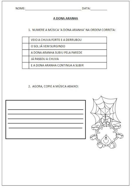 """Confira nesta postagem algumas atividades para alfabetização para trabalhar com o tema """"A Dona Aranha""""."""