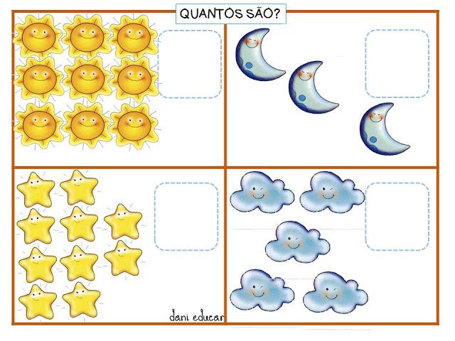 Confira nesta postagem atividades de matemática prontos para imprimir para trabalhar quantidades na educação infantil de forma lúdica.