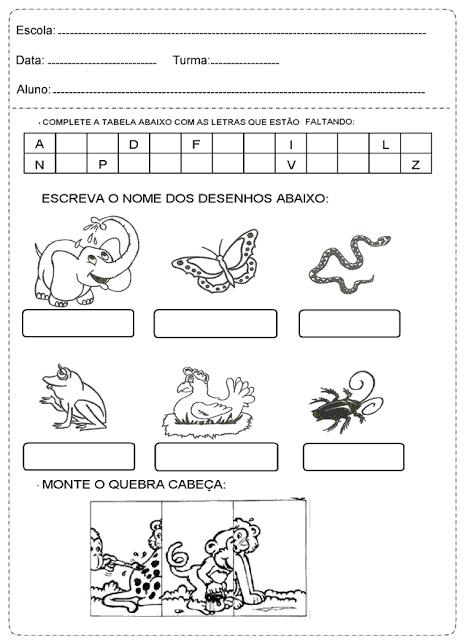 Atividades Variadas de Português para o 1° ano