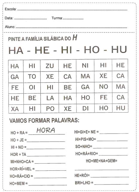 Atividades de Português 1° ano fundamental para imprimir