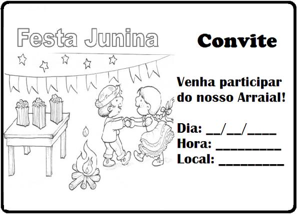 Convites para Festa Junina para Imprimir