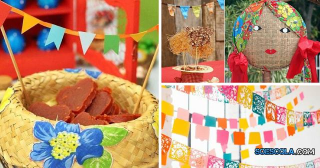 Muitas pessoas estão me pedindo dicas para ajudar na decoração da festa junina, estas aqui são perfeitas, originais e fáceis de fazer, ideais para fugir do tradicional.