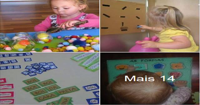 Ideias de atividades para estimular o desenvolvimento das crianças.
