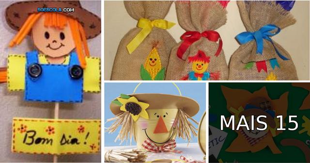 Nesta postagem trago para vocês Várias ideias para festa junina.