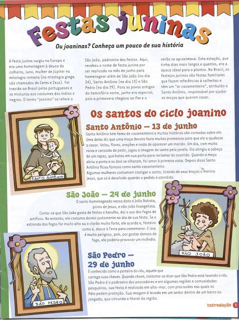 Textos para imprimir - Origem da Festa Junina