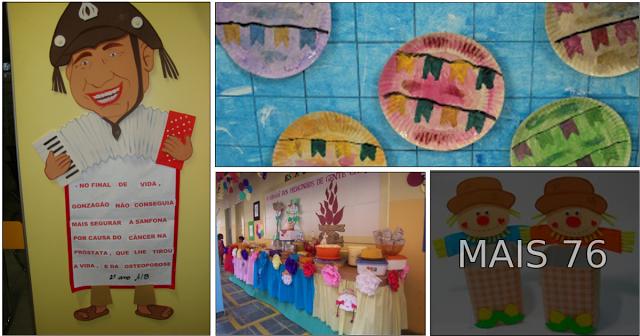 Segue algumas ideias retiradas da internet com murais escolares, decoração, convites.