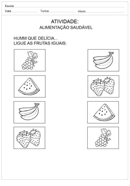 Atividades sobre Alimentação para Educação Infantil