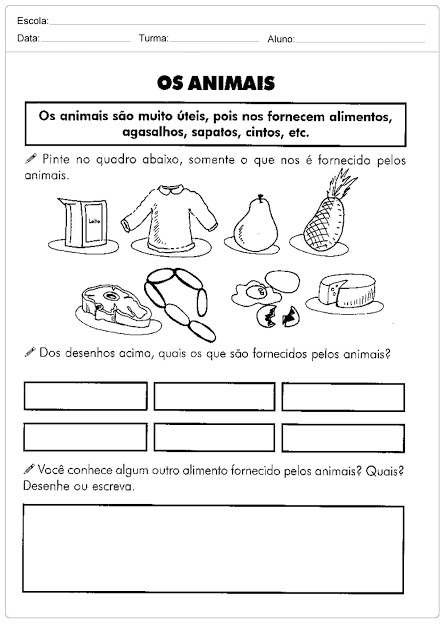 Confira Atividades sobre o Meio Ambiente pronto para imprimir, indicados a alunos do primeiro e segundo ano do Ensino Fundamental.