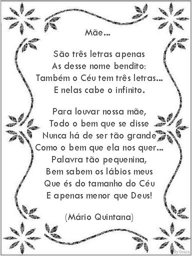 Poema E Poesias Dia Das Mães Só Escola