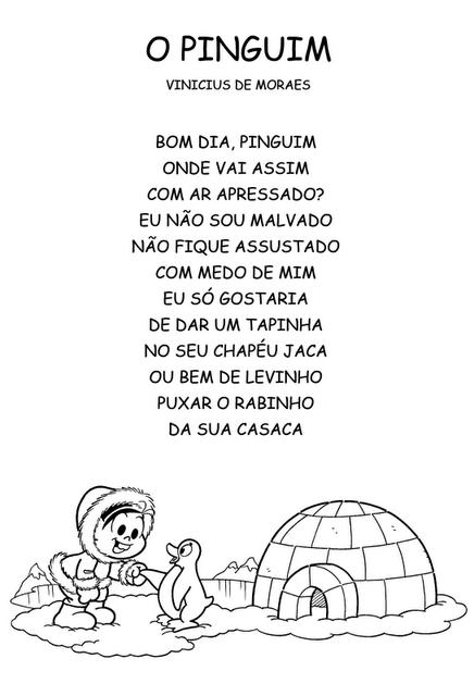 """Jogo do poema """"O Pinguim"""" de Vinicius de Moraes"""