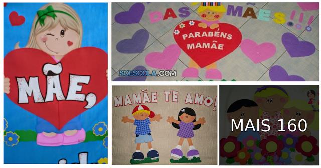 Confira várias ideias de Painéis para decorara e alegrar ainda mais sua sala de aula - Dia das Mães.