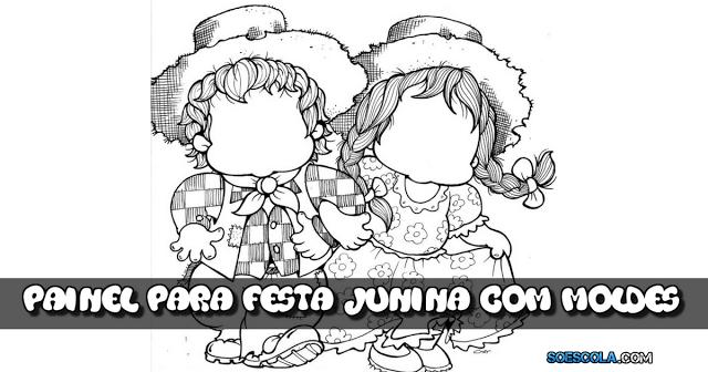 Nesta postagem trago para vocês uma super ideia para fazer um painel para festa junina com moldes.