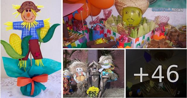 Confira nesta postagem Sugestões e Ideias para decoração de Festas Juninas.