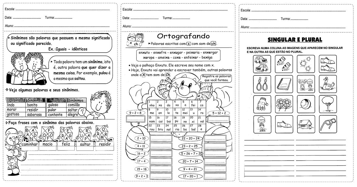 Atividades Ensino Fundamental para alunos do 3º ano - Baixe em PDF