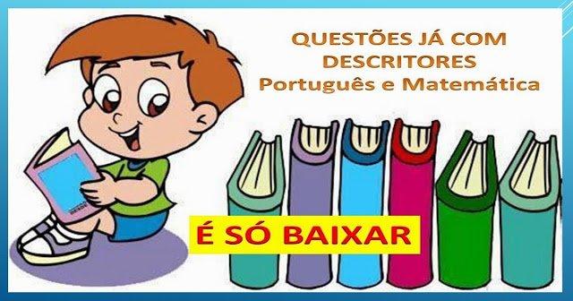 Apostilas de Matemática e Língua Portuguesa com descritores