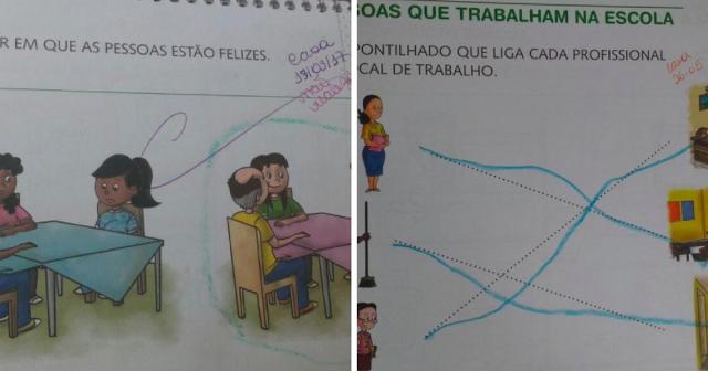 Escola particular usa material didático escolar racista e mãe do aluno denuncia