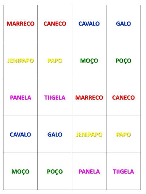 Jogo de Alfabetização: Duas Palavras