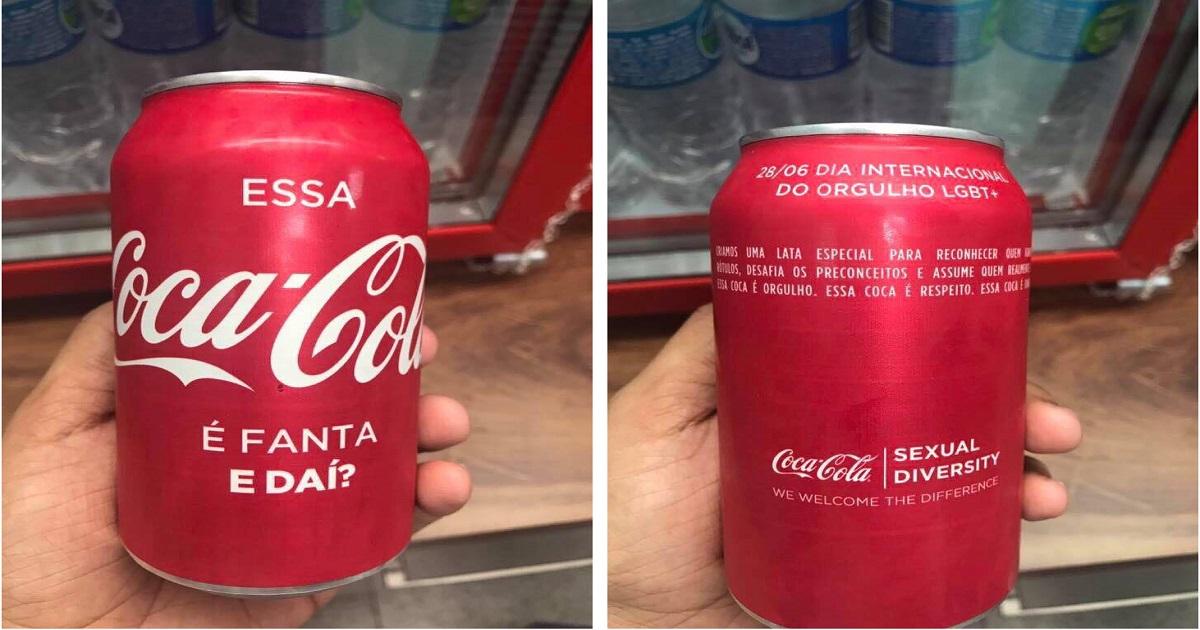 """Latinha especial contra o preconceito: """"Essa Coca-Cola é Fanta, e daí?"""""""