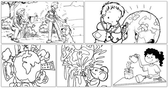 Neste artigo você encontrará várias imagens e desenhos para colorir sobre um só tema: meio ambiente.