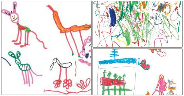 O desenho e o desenvolvimento das crianças - Os rabiscos ganham complexidade conforme os pequenos crescem e, ao mesmo tempo, impulsionam seu desenvolvimento cognitivo e expressivo