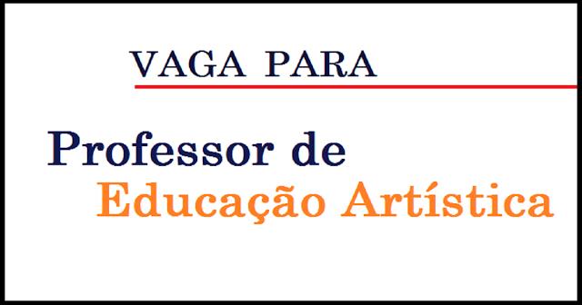 Vaga para Professor de educação artística com especialização em deficiência intelectual