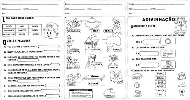 Confira nesta postagem atividades de português prontas para imprimir, indicadas a alunos do segundo ano do Ensino Fundamental.