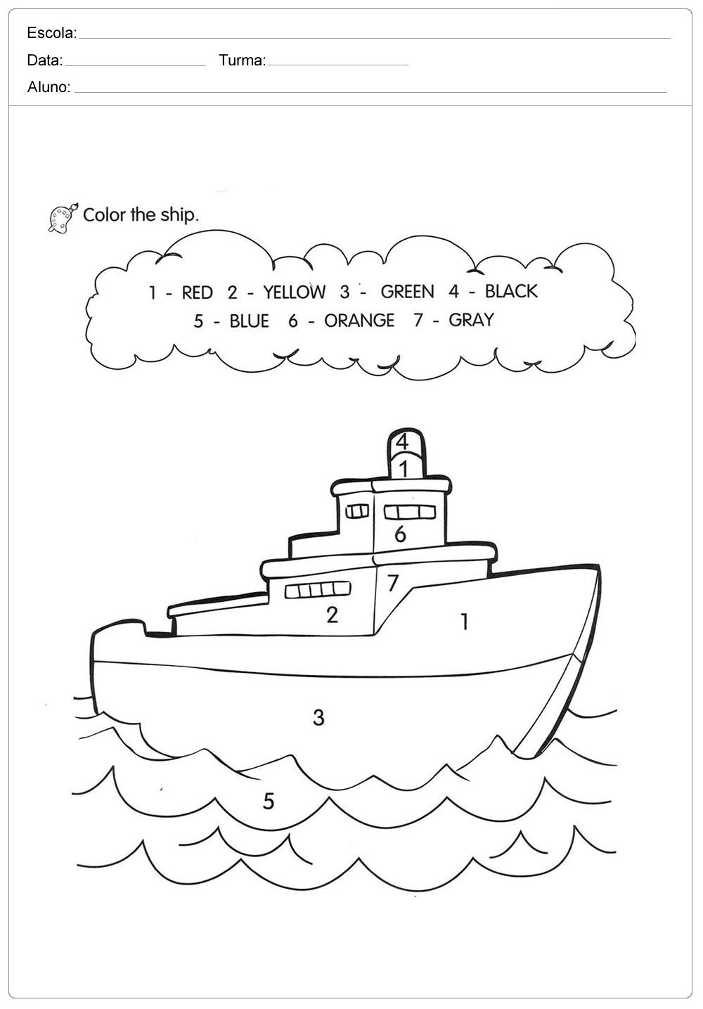 atividades-de-ingles-para-imprimir-pinte-o-navio-com-as ...