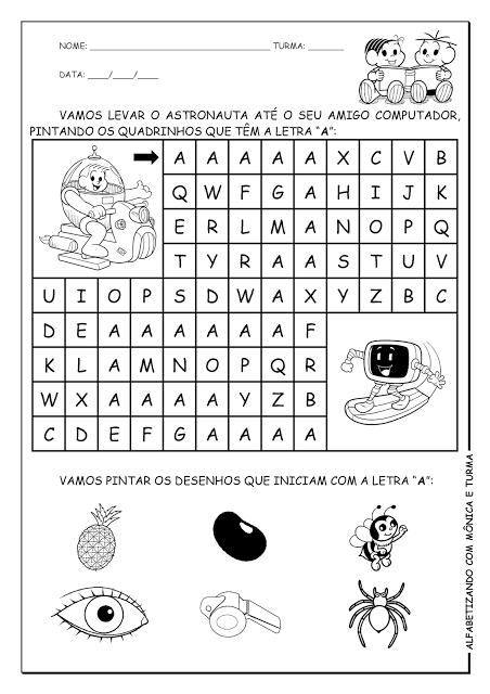 Atividades para Imprimir com as Letras A, B e C