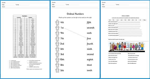 Com as atividades a seguir você aprende os números ordinais e inglês e não esquece nunca mais.
