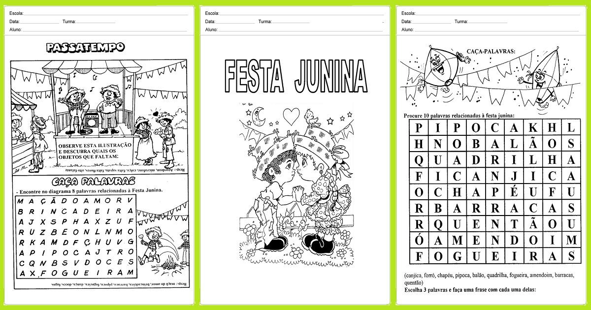 Atividades Sobre Festa Junina Para O 1º Ano Para Imprimir