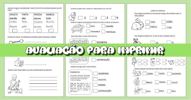 Confira nesta postagem uma avaliação pronta para imprimir, indicada a alunos do segundo ano do Ensino Fundamental.