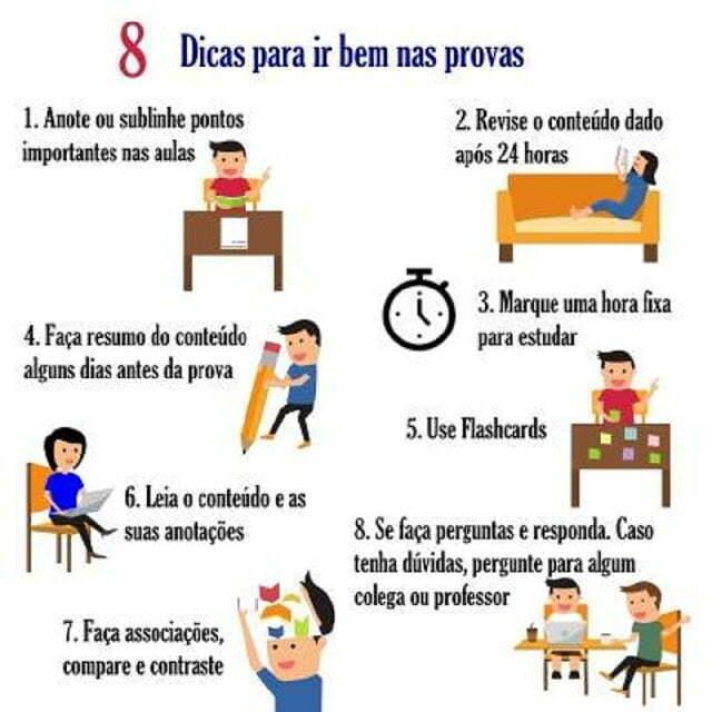 Confira 8 dicas simples, mas que podem fazer a diferença na hora de mandar bem na prova.