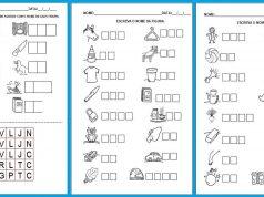 Hipótese de escrita silábica sem valor sonoro - Atividades para Imprimir
