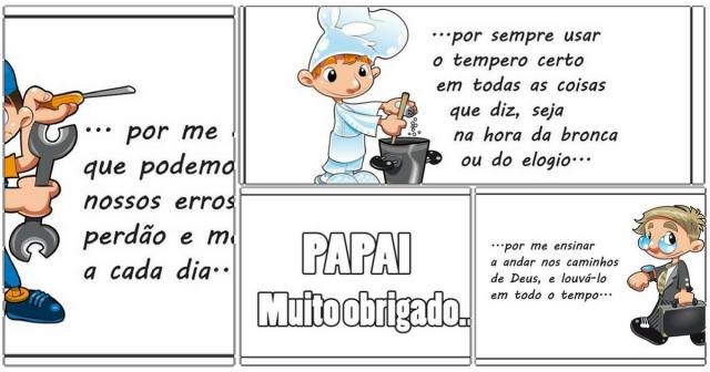 Livro para o Dia dos Pais prontas para imprimir - Lembrancinhas