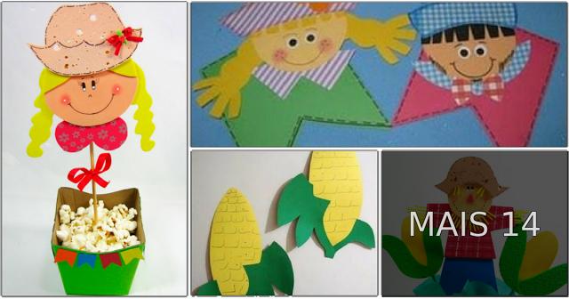 Em clima de Festas de Juninas, veja aqui alguns moldes de artesanato em EVA para você usar na decoração ou fazer lembrancinhas São João para Escolas, Festas em família ou Igrejas.