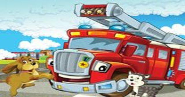 Atividade: Carro de bombeiro para imprimir, recortar, montar e pintar